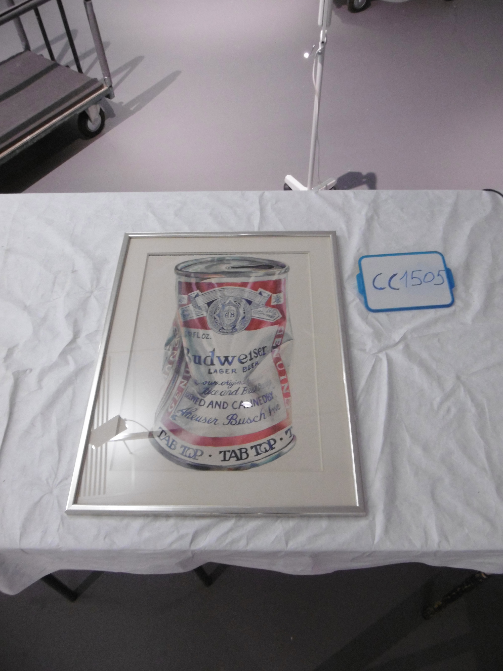 Don NICE, Beer can,s.d.Dimensions : 89,3 x 68,5 x 2 cm